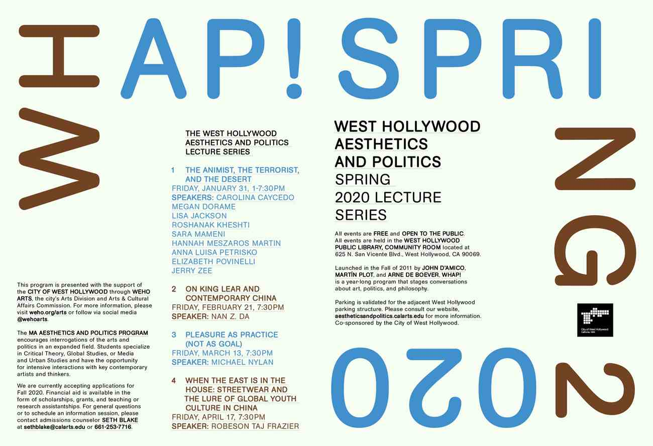 WHAP! lecture series poster